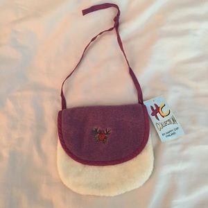 Other - NWT! Scandinavian Faux Fur Flap Bag